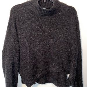 Wild Fable Black Crop Top Sweater - Small